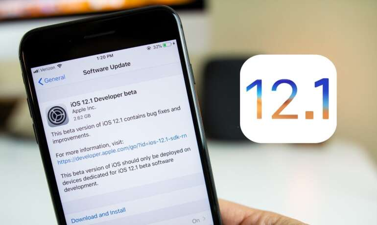 Cum descarc iOS 12.1?