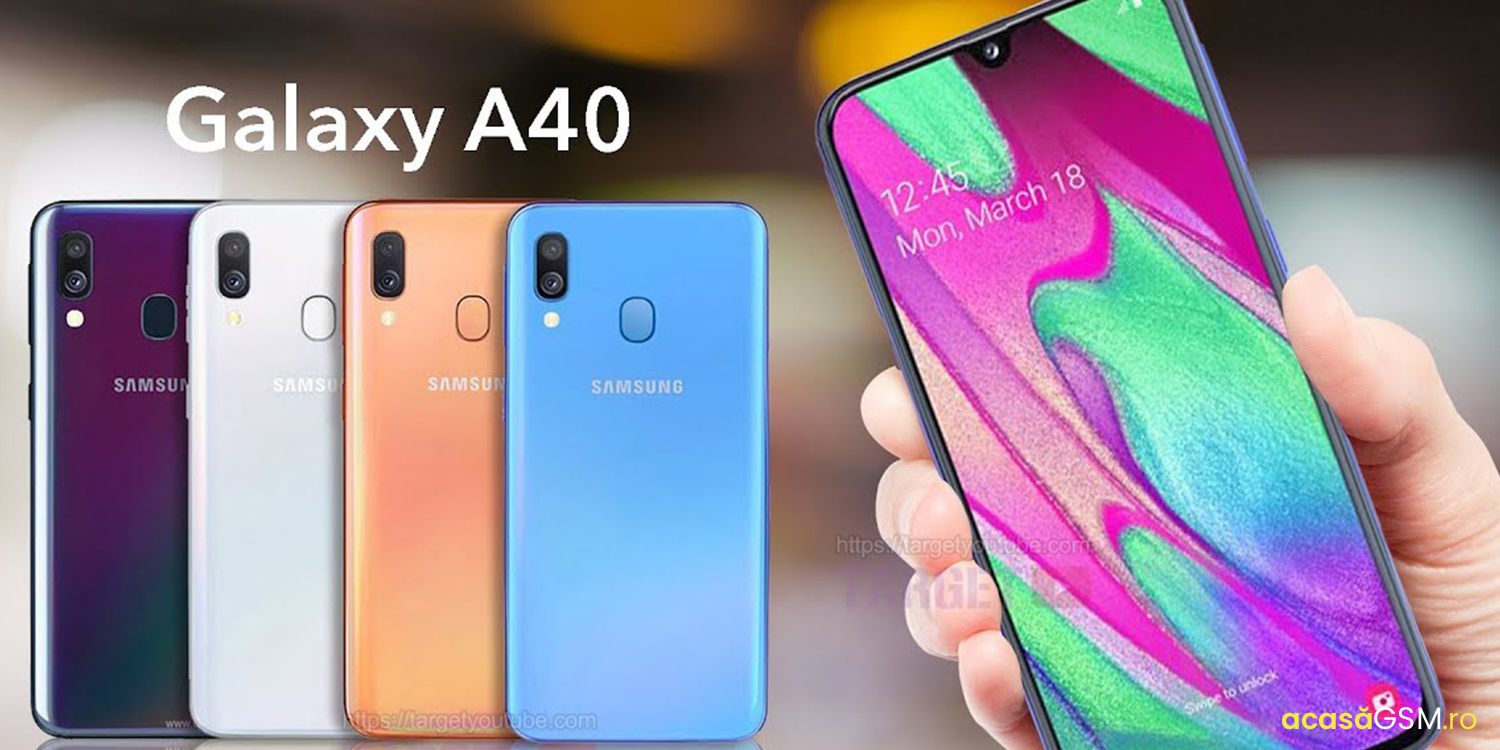Samsung Galaxy A40, design si performanta